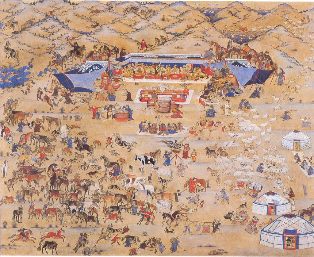 One day of Mongolia painting