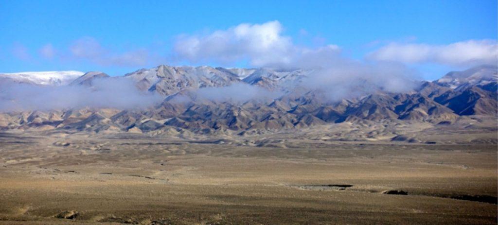 Mongolian mountains foggy