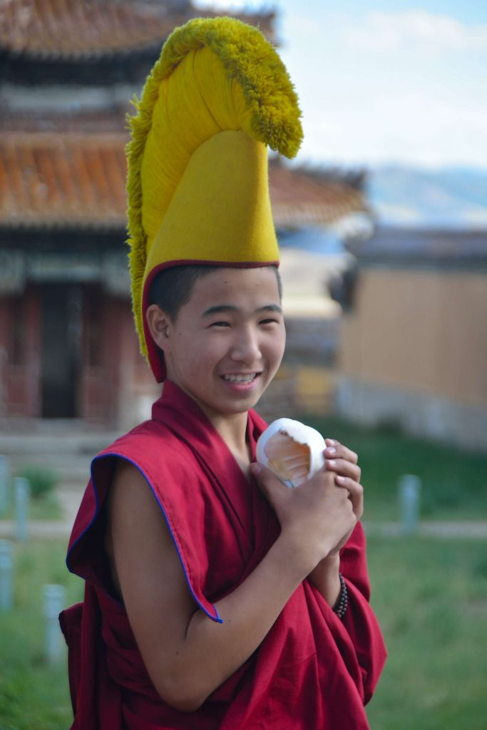 Mongolian kids monk