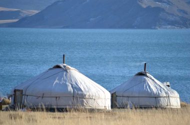 mongolia ger yurt lake