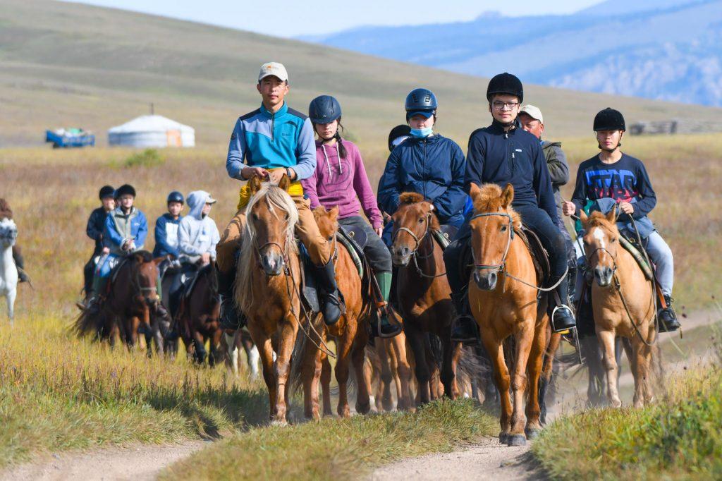 Mongolian horseback riding