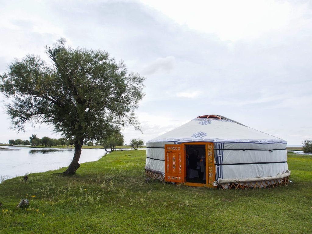 mongolian ger yurt summer