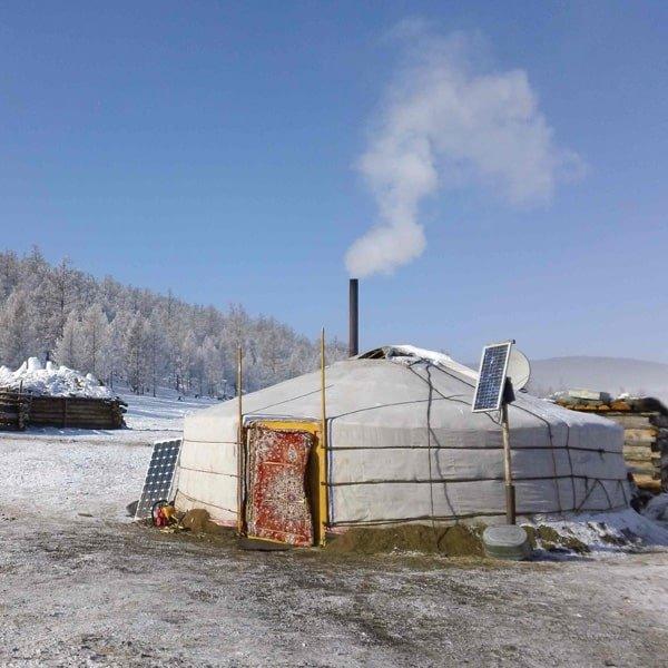 mongolia winter ger