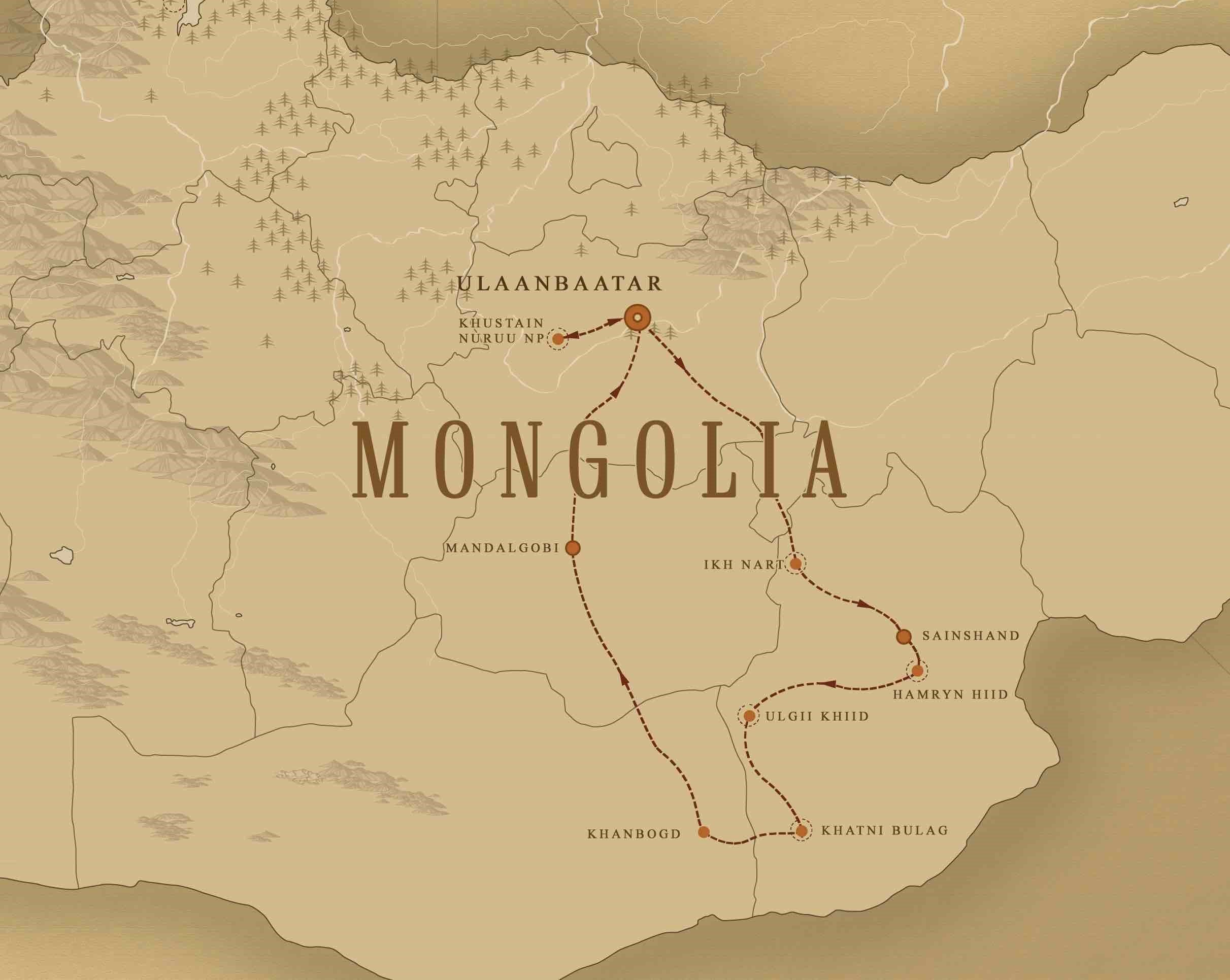map mongolia